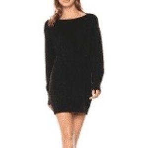 NWT Vince Black Boatneck Sweater Dress - XS